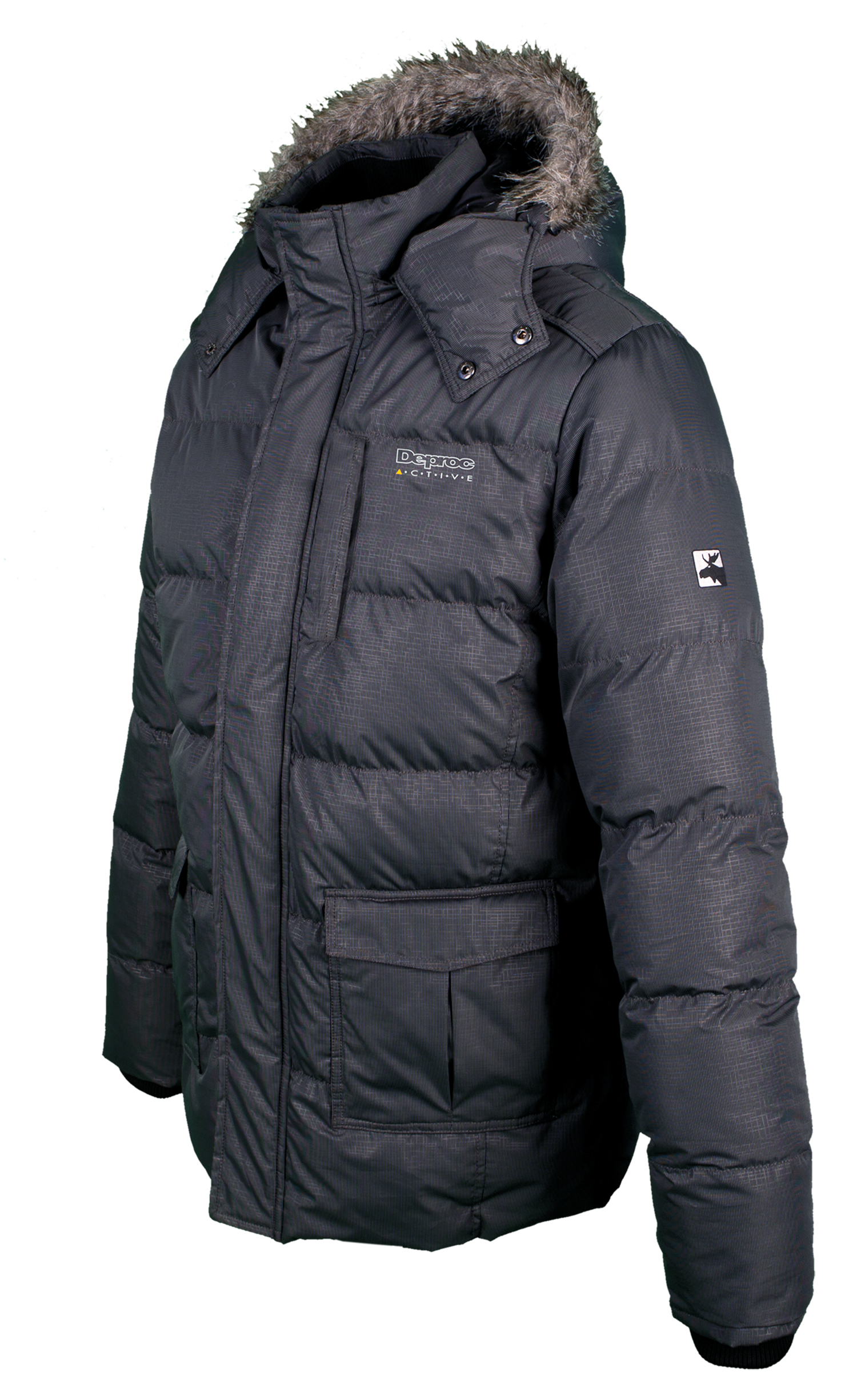 DEPROC Winterjacke & Winter Parka Herren  Waddington Men  Farbe: anthrazit  Größe: S
