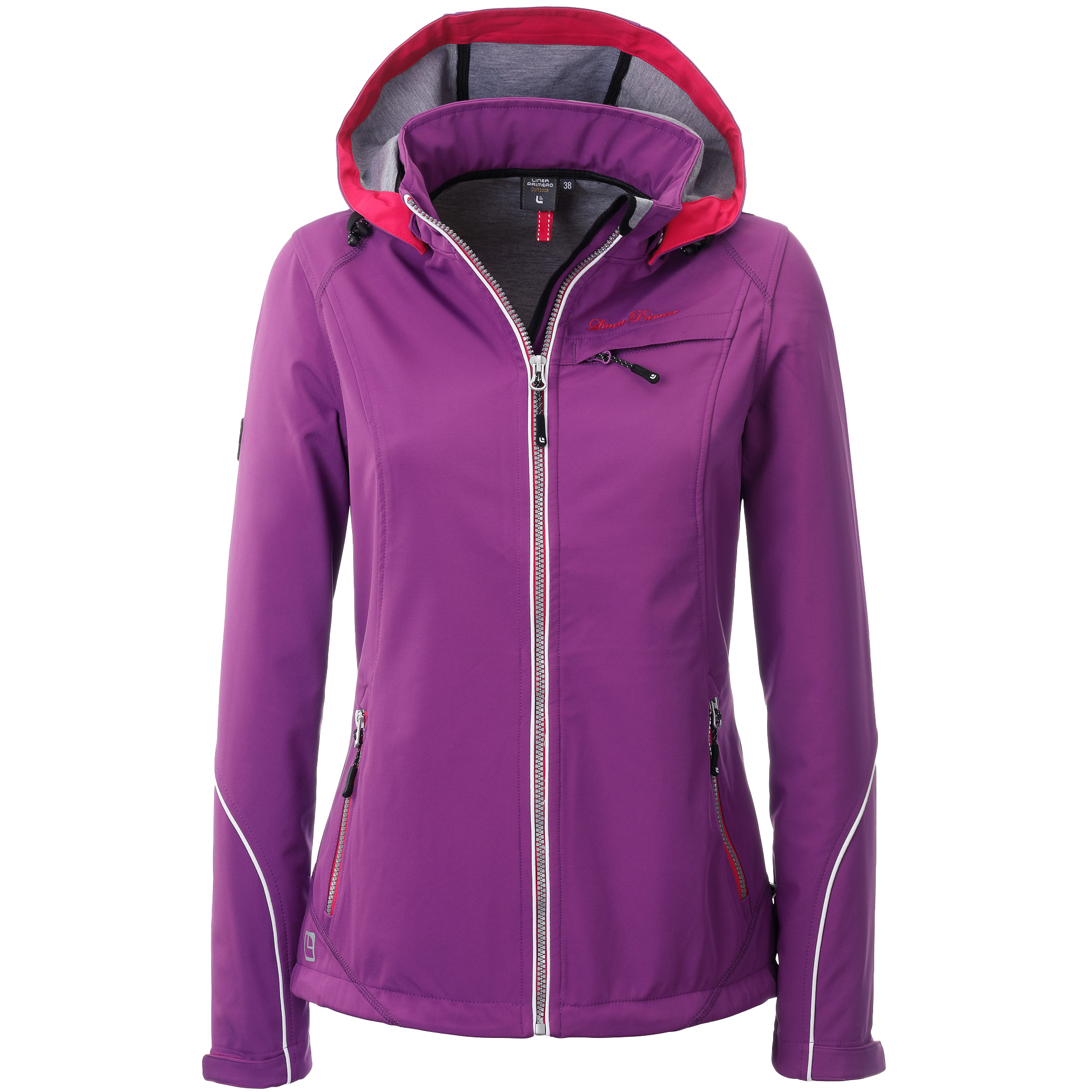 Softshelljacke Damen LINEA PRIMERO MECATINA PEAK Women Farbe: sparkling grape Größe: 48