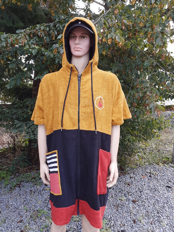Wave Hawaii Zip Ponchino DUSTY Badeponcho medium Men Farbe: yellow Größe: OSFA