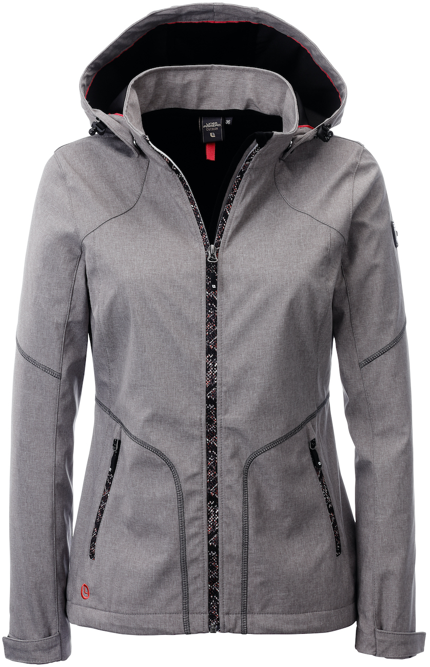 Softshelljacke Damen LINEA PRIMERO SOUTH TWIN PEAK Women Farbe: grey melange Größe: 48
