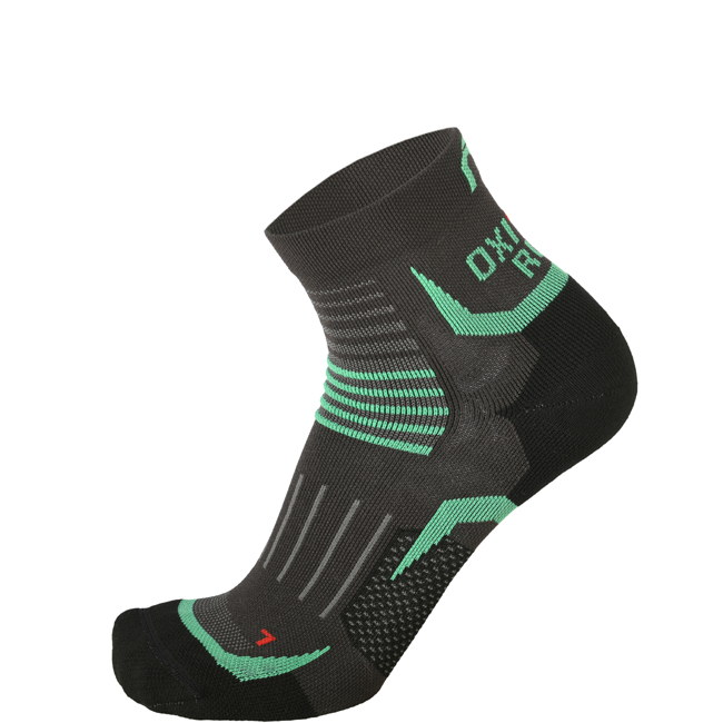 MICO Running OXI-JET Compression Short Socks Farbe: anthracite Größe: XXL